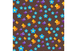 Nature flower illustration seamless pattern background floral summer vector