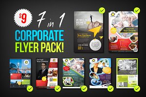 Corporate Flyers Psd Template 7 in 1