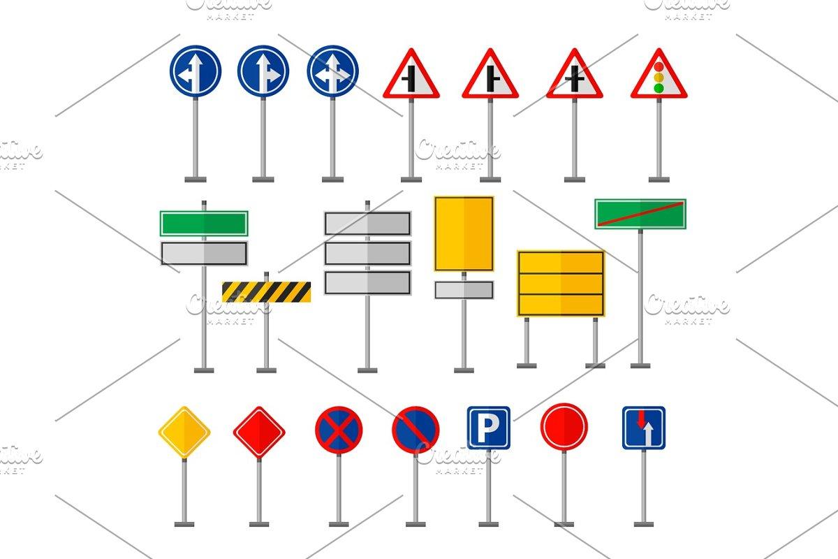 road symbols traffic signs graph