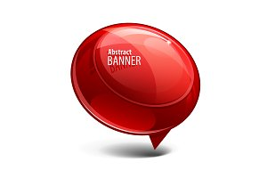 Red Abstract Shiny Glass Banner