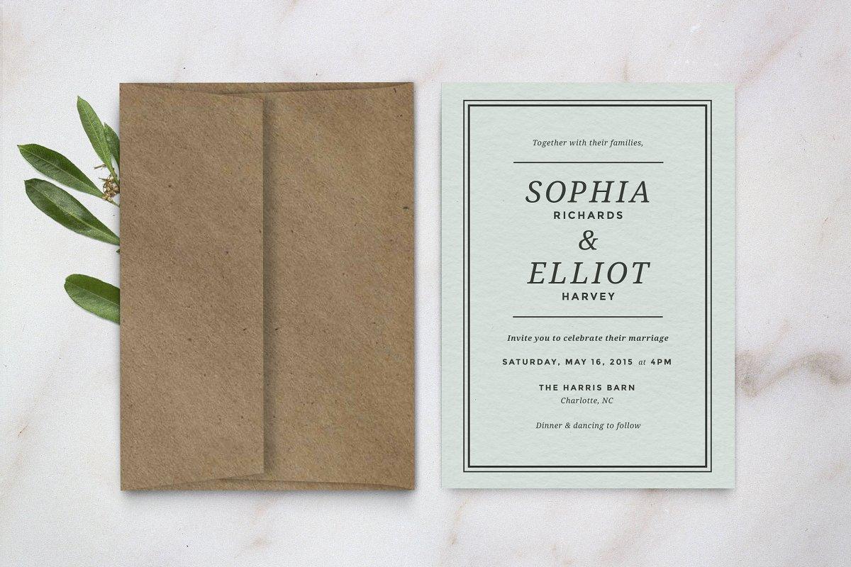 Wedding Invitation Template | Creative Wedding Templates ...