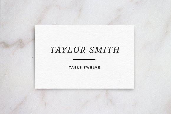 Wedding Table Place Card Template Card Templates Creative Market – Place Card Template