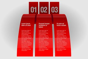 Red design infographic template