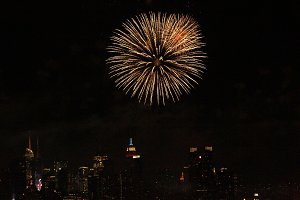 Fireworks in New York