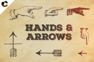 Vintage Hands & Arrows Symbols