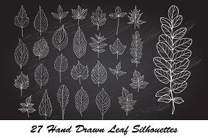 27 Leaf Silhouettes