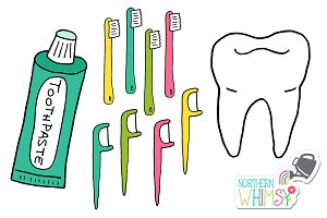 Dentist Clip Art:  Teeth