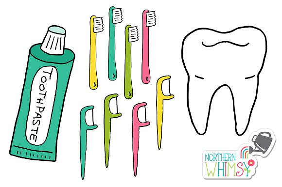Dentist Clip Art:  Teeth