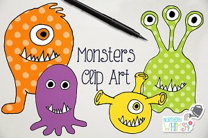 Kids Clip Art - Silly Monsters