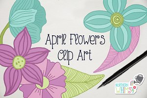 April Floral Clip Art