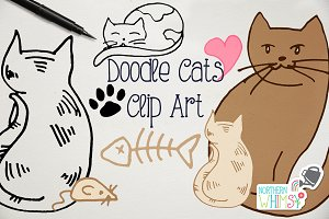 Cat Clip Art - Hand Drawn