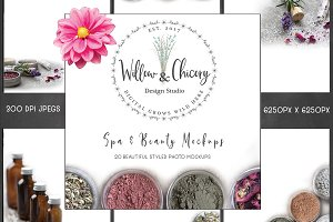Spa & Beauty Mockup Styled Photos