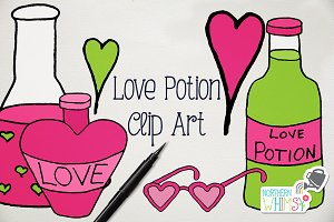 Love Potion Illustrations Valentines