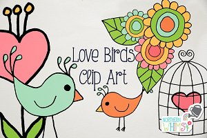 Valentine's Clip Art - Love Birds
