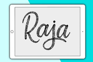 Raja lettering brush for Procreate