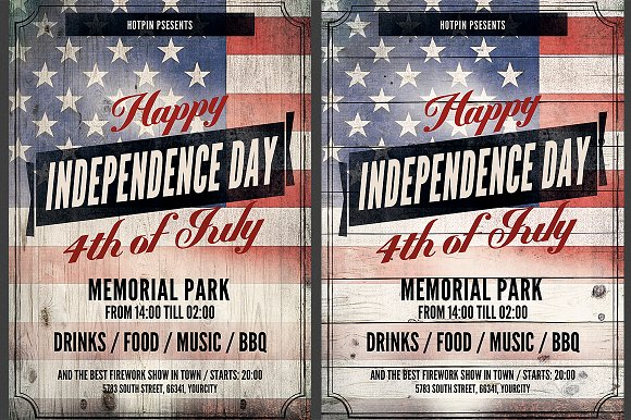 independence day flyer template flyers