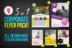 Corporate Flyers Psd Template 5 in 1