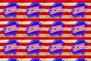 Happy 4th of July Graphic Seamless Pattern