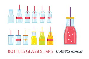 Bottles Glasses & Jars collection