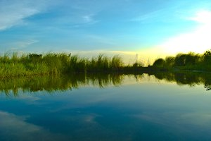 Quiet fishing lake