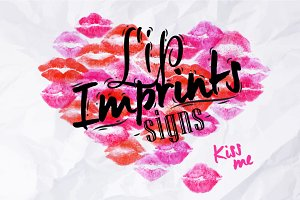 Lip imprints signs