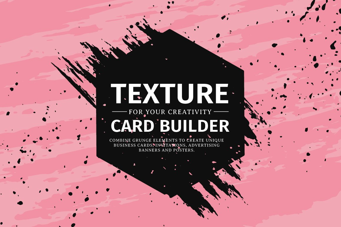 Texture card builder ~ Objects ~ Creative Market