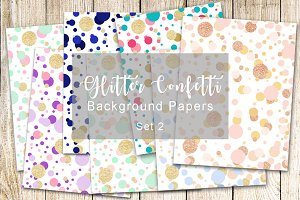 Glitter Confetti Background Papers 2