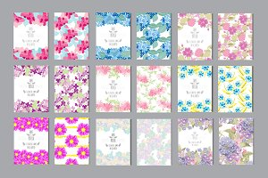 15 Floral Card Templates +4 Patterns