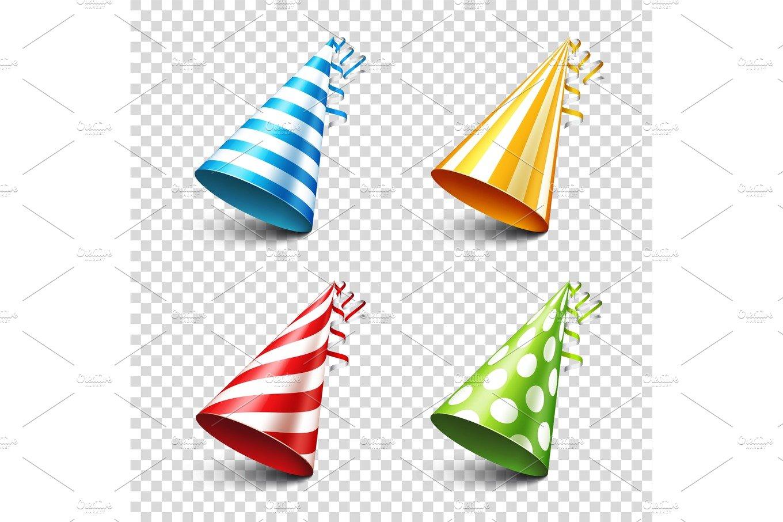 party shiny hat with ribbon holiday decoration celebration birthday