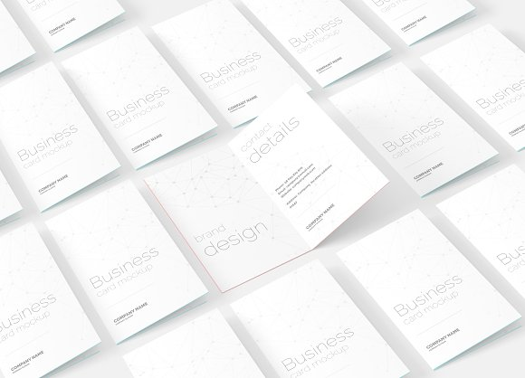 Folded Business Card Mockup
