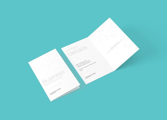 Folded business card mockup product mockups creative market reheart Gallery