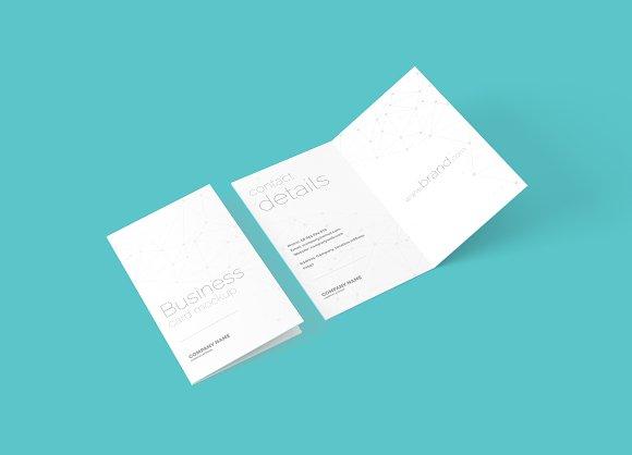 Folded Business Card Mockup Product Mockups Creative Market