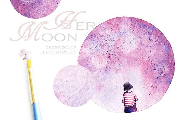 Two Moons in Illustrations - product preview 2