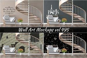 Wall Mockup - Sticker Mockup Vol 495