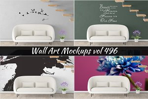 Wall Mockup - Sticker Mockup Vol 496