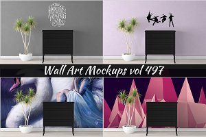 Wall Mockup - Sticker Mockup Vol 497