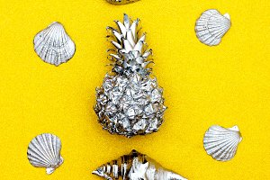 Pineapple and seashells