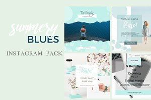 Summery Blues Instagram Templates