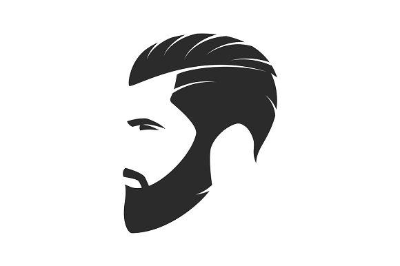 Bearded Man Hipster Style Fashion Silhouette Avatar Emblem