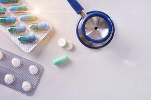 Prescription of medicines shiny top