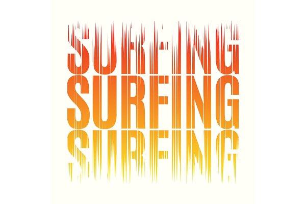 Surfing tee print. T-shirt design g…
