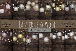 Lanterns and wood