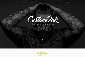 Tattoo Studio Website Theme