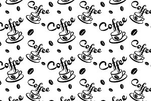 coffee-pattern-drawing-art-vector