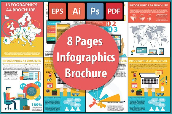 8 Pages Infographics Brochure