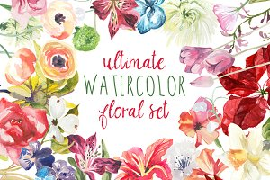 Ultimate Watercolor Floral Set