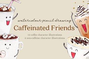 Caffeinated Friends Set