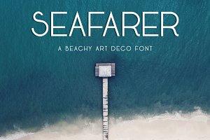 Seafarer | A Beachy Art Deco Font