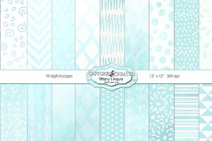 Tiffany's Aqua Paper Pack 18