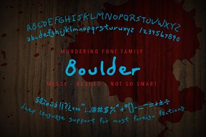 Murderino Boulder Ransom Note Font